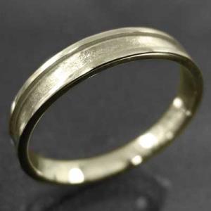 平らな指輪 ピンキー 小指 リング 地金 k10イエローゴールド 約3mm幅|skybell