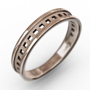 平打ち 指輪 小指 指輪 四角 型抜き スタンダード k10ピンクゴールド 約3mm幅|skybell