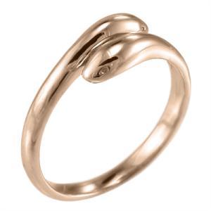 ヘビ スタンダード 指輪 k18ピンクゴールド 双頭|skybell
