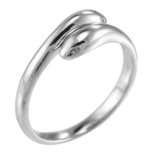 リング シンプル 蛇 白金(プラチナ)900 双頭|skybell