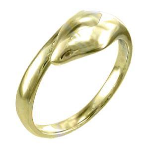 指輪 金運 象徴 ヘビ 地金 イエローゴールドk18 コブラ|skybell