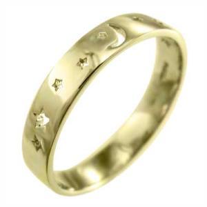 平らな指輪 星抜き デザイン ム...