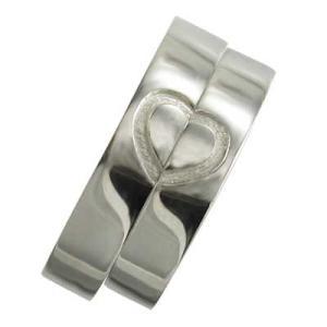 白金(プラチナ)900/平たいリング/ペアの指輪/地金/ハートの形/ペアハート/ハート溝入|skybell