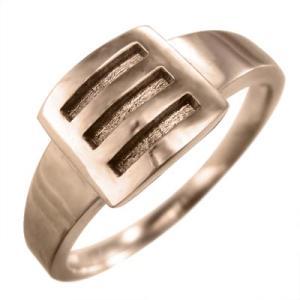 指輪 メンズ スタンダード 18金ピンクゴールド|skybell
