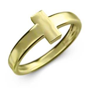 指輪 スタンダード 十字架 18金イエローゴールド|skybell
