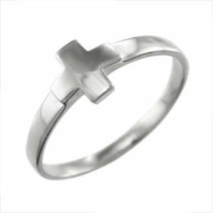 k18ホワイトゴールド 指輪 スタンダード クロス デザイン|skybell