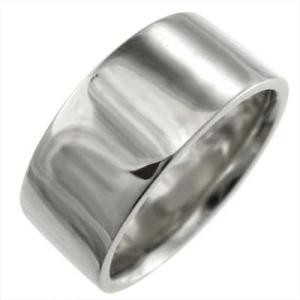 幅広リング 平打ちの指輪 メンズ Pt900 約10mm幅 厚さ約2mmの重量感 特大サイズ|skybell