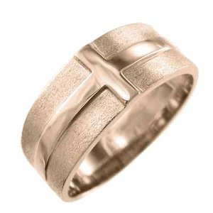 平打ち 指輪 10kピンクゴールド クロス スタンダード|skybell