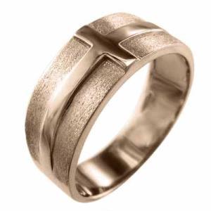 平打ち 指輪 10kピンクゴールド クロス スタンダード|skybell|04