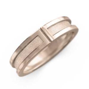 k10ピンクゴールド 平打ちの 指輪 スタンダード|skybell