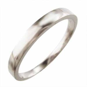 平打ち 指輪 スタンダード k10ホワイトゴールド 最大約3mm幅|skybell