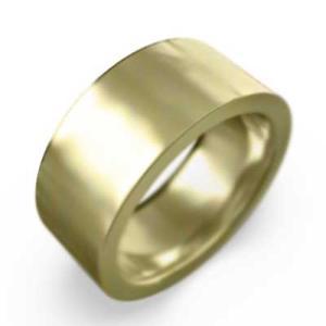 平打ちの 指輪 スタンダード k18イエローゴールド 約8mm幅 大きめサイズ 厚さ約2mm|skybell