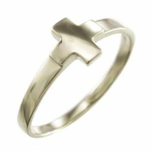 指輪 クロス ジュエリー 地金 10kイエローゴールド|skybell