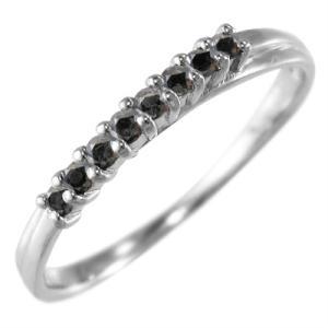 ハーフ エタニティ 指輪 ブラックダイアモンド 4月の誕生石 Pt900|skybell