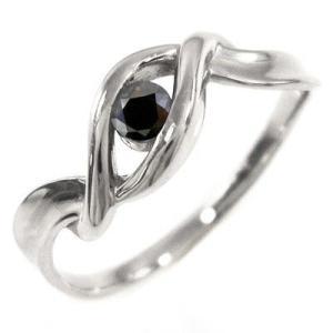 デザインリング プラチナ 4月誕生石 ブラックダイヤモンド|skybell