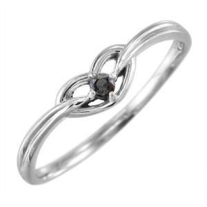 プラチナ900 リング 一粒石 ブラックダイヤモンド 4月の誕生石 ハート|skybell
