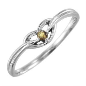 指輪 スウィート ハート 1粒 石 シトリン プラチナ900 11月誕生石|skybell