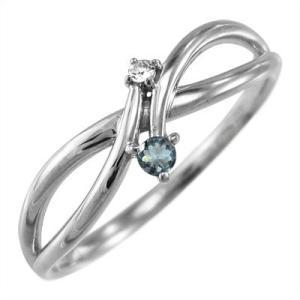 プラチナ900 指輪 アクアマリン ダイヤモンド|skybell