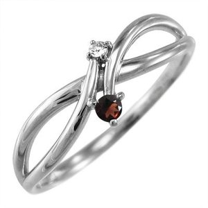 ガーネット ダイヤモンド 指輪 プラチナ900 1月誕生石|skybell