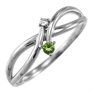 指輪 ペリドット ダイヤモンド 8月の誕生石 Pt900|skybell