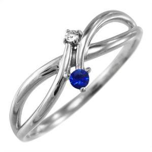 指輪 プラチナ900 サファイア ダイヤモンド 9月の誕生石|skybell