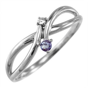 プラチナ900 指輪 12月誕生石 タンザナイト ダイヤモンド|skybell