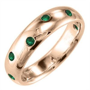 k10ピンクゴールド 指輪 エメラルド|skybell