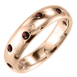 指輪 ガーネット ピンクゴールドk10|skybell