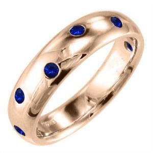 指輪 サファイヤ 9月誕生石 k10ピンクゴールド|skybell