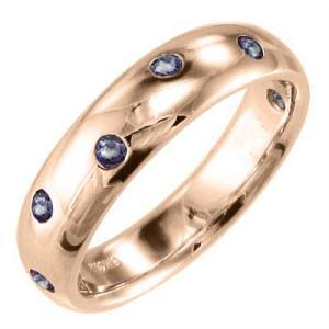 タンザナイト 指輪 12月の誕生石 k10ピンクゴールド|skybell
