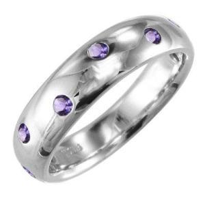 指輪 アメジスト(紫水晶) ホワイトゴールドk10|skybell