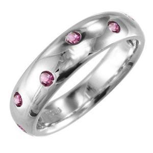指輪 ピンクトルマリン 10金ホワイトゴールド 10月の誕生石|skybell