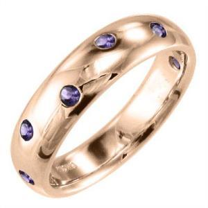 ピンクゴールドk18 指輪 アメジスト(紫水晶) 2月の誕生石|skybell