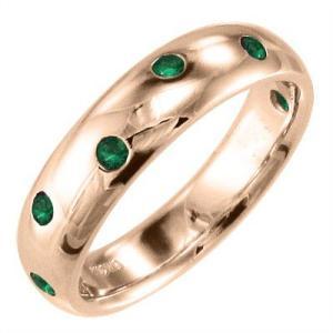 k18ピンクゴールド 指輪 エメラルド|skybell