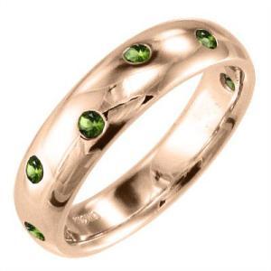 指輪 ペリドット 8月の誕生石 18金ピンクゴールド|skybell