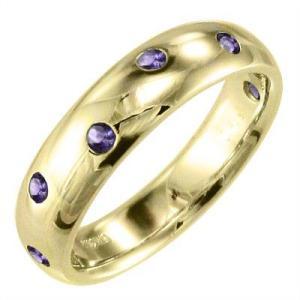 指輪 アメシスト(紫水晶) 18金イエローゴールド|skybell