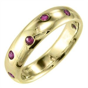 ルビー 指輪 7月誕生石 k18イエローゴールド|skybell