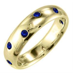 指輪 サファイヤ 18金イエローゴールド 9月の誕生石|skybell