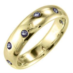 18金イエローゴールド 指輪 タンザナイト|skybell