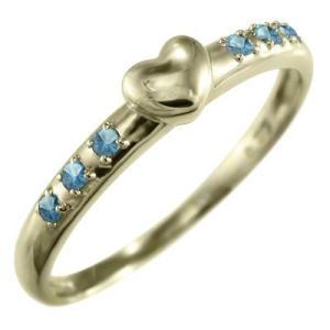 k10イエローゴールド 指輪 ブルートパーズ 11月の誕生石 ハート 型|skybell