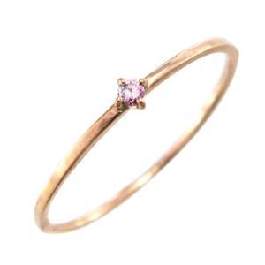 指輪 ピンクトルマリン 10月の誕生石 k10ピンクゴールド 幅約1mmリング 極細|skybell|03