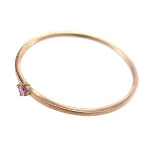 指輪 ピンクトルマリン 10月の誕生石 k10ピンクゴールド 幅約1mmリング 極細|skybell|04
