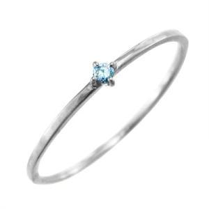 指輪 ブルートパーズ k10ホワイトゴールド 幅約1mmリング 極細|skybell|03