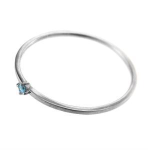 指輪 ブルートパーズ k10ホワイトゴールド 幅約1mmリング 極細|skybell|04