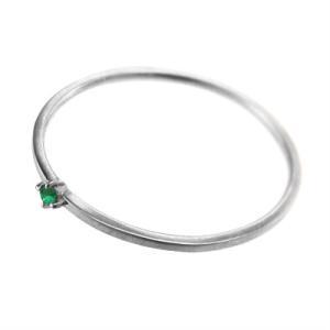 指輪 k10ホワイトゴールド エメラルド 5月の誕生石 幅約1mmリング 極細|skybell|04