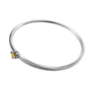 10kホワイトゴールド リング (黄水晶)シトリン 11月の誕生石 幅約1mmリング 極細|skybell|04
