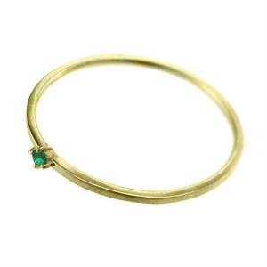 10kイエローゴールド 指輪 エメラルド 5月の誕生石 幅約1mmリング 極細|skybell|04
