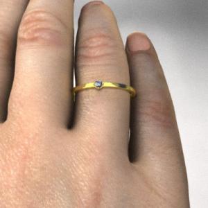 指輪 タンザナイト 10kイエローゴールド 幅約1mmリング 極細|skybell|02