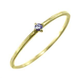 指輪 タンザナイト 10kイエローゴールド 幅約1mmリング 極細|skybell|03