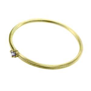 指輪 タンザナイト 10kイエローゴールド 幅約1mmリング 極細|skybell|04